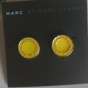 Marc Jacobs Yellow Circle Studs NWT